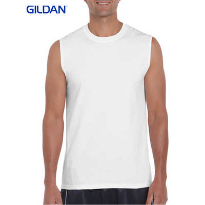 Gildan Ultra Cotton Adult Sleeveless T-Shirt White